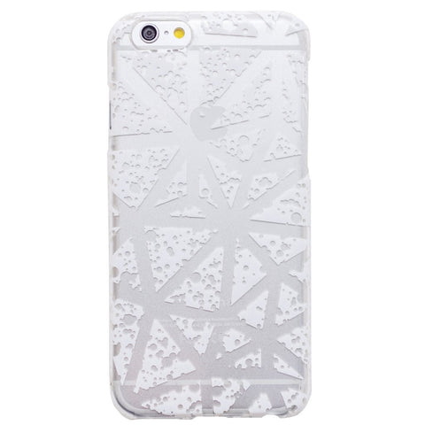 Clear White Triangles Geometric iPhone 6S/ 6 case