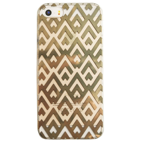 Clear Gold Chevron Pattern iPhone 6 Plus Case