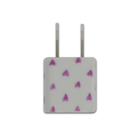 Pink Hearts Wall Charger