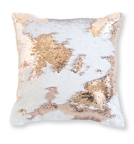Purple Mermaid Sequin Pillow