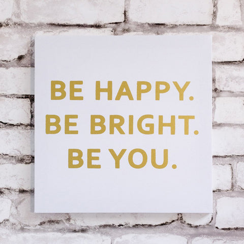Be Happy Wall Canvas
