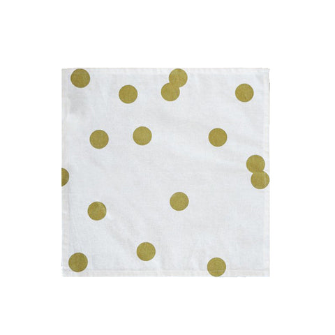Gold Polka Dot Napkins (Set of 2)