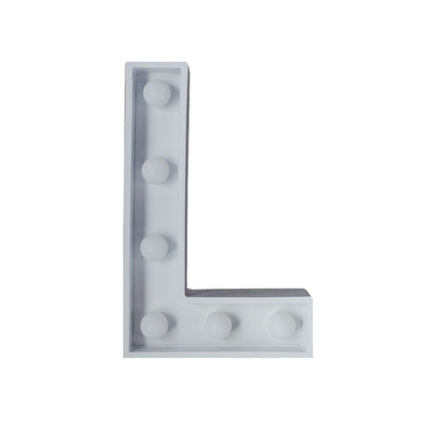 L Initial Marquee Light