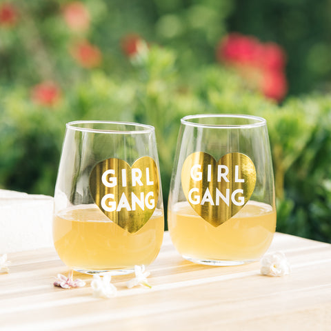 Girl Gang Wine Glasses