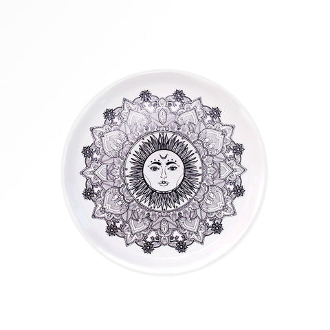 Sun Medallion Ceramic Plate Set