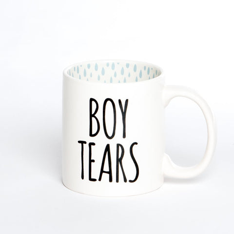 Boy Tears White Coffee Mug