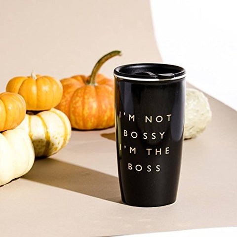 I'm Not Bossy I'm The Boss Coffee Tumbler with Lid