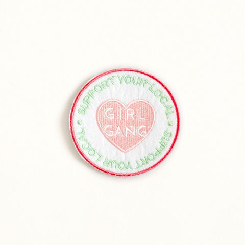 Ankit White Support Girl Gang DIY Patches