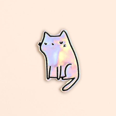 Ankit White Holographic DIY Kitty Patch