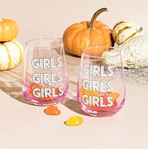 Girl Girl Wine Glasses