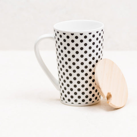 Polka Dot Black & White Coffee Mug
