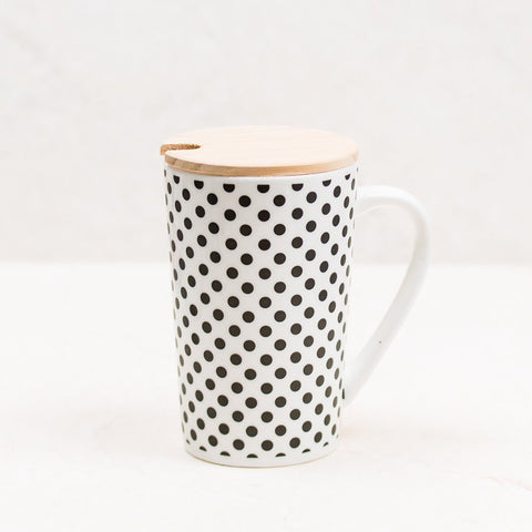 Polka Dot Coffee Mug - Black