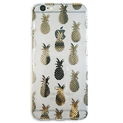 Gold Pineapple Phone 6 Plus Case