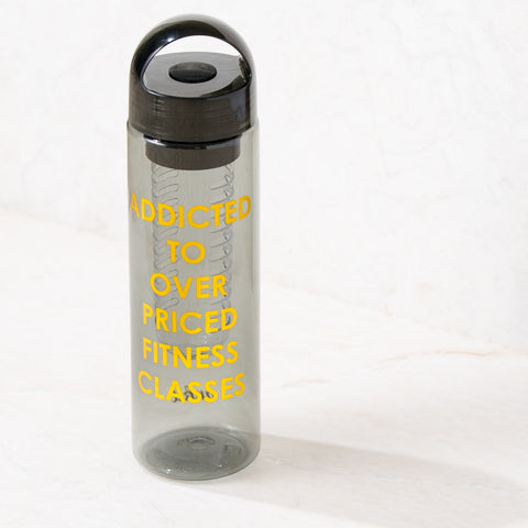 Addicted to Infuser Gray Sports Water Bottle