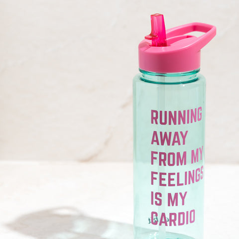 Running Away Mint Sports Water Bottle