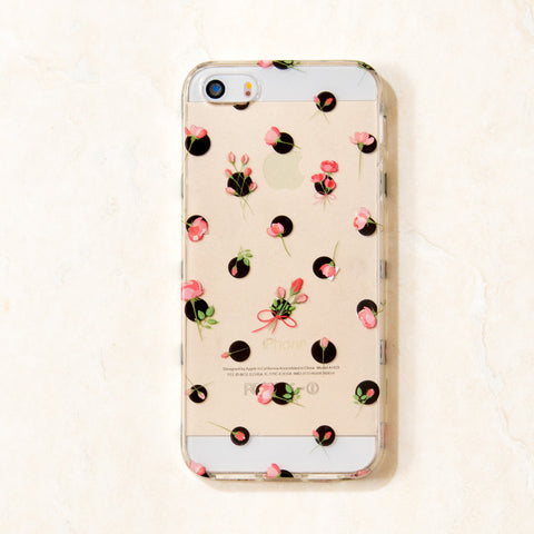 Clear Multicolor Floral floral flower iPhone 6S/ 6 case
