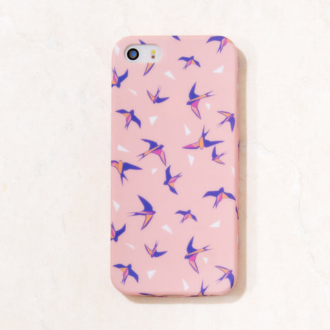 Pink Multicolor Sparrow Bird, Birdy iPhone 5C/S/5 case