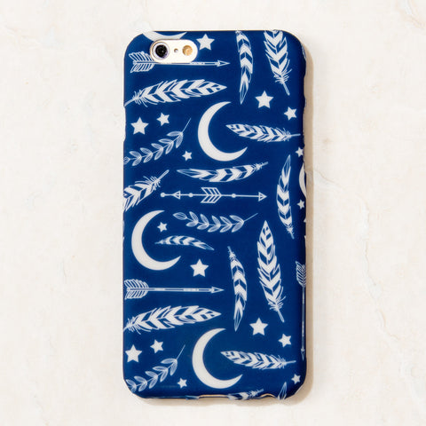 Blue Moon Feather Tribal Boho Bohemian iPhone 6S/ 6 case