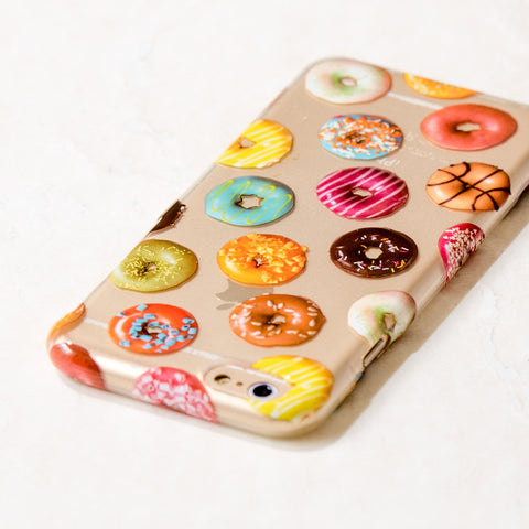 Clear Multicolor Donuts Food iPhone 6S/ 6 case
