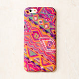 Pink Multicolor Indian Fabric Tribal Boho Indian HippieBohemian iPhone 6S/ 6 case
