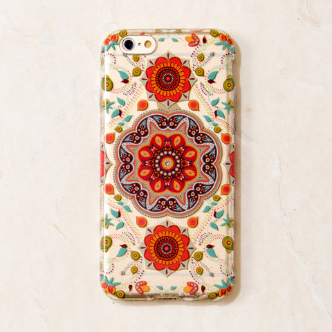 Clear Multicolor Mandala Kaleidoscope geometric iPhone 6S/ 6 case