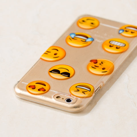 Clear Multicolor Emoji Emoji Cute Girly iPhone 6S/ 6 case