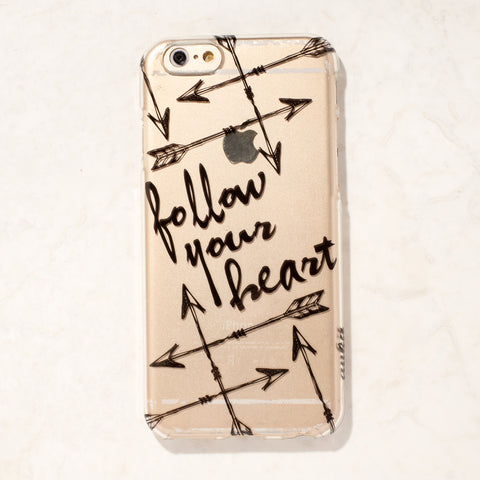 Clear Follow your heart Tribal Boho iPhone 6S/ 6 case