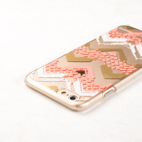 Clear Multicolor Chevron Pattern iPhone 6S/ 6 case