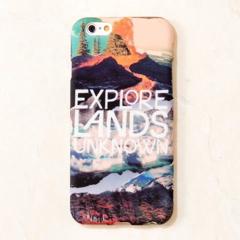 Multicolor Explore lands unknown travel wanderlust iPhone 6S/ 6 case