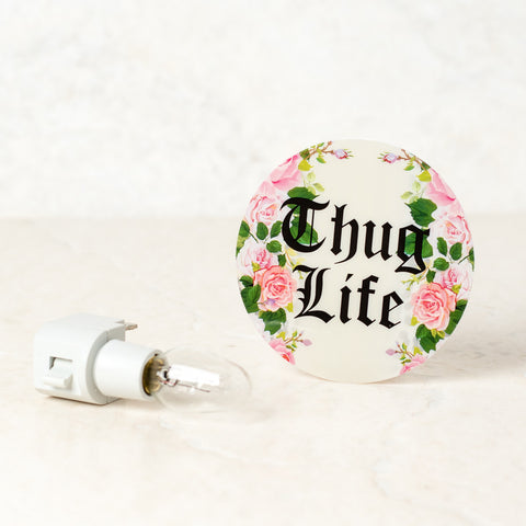 Thug Life White Night Light