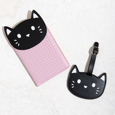 Kitty Luggage Tag & Passport Set