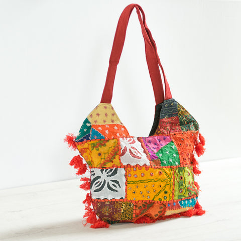 Patchwork Orange Crossbody Bag
