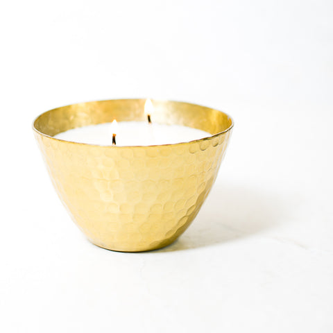 Vanilla Hives Hammered Bowl Scented Candle