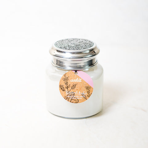 Patchouli Amber Pearl finish Jar Scented Candle