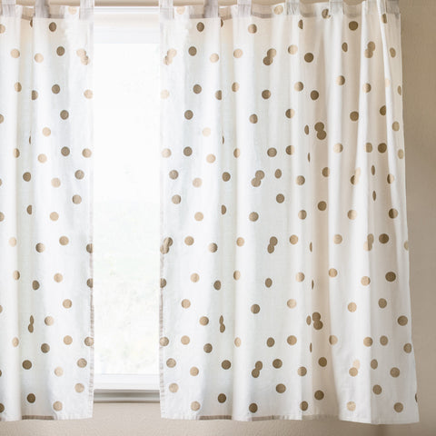 Polka Dot Window Curtain