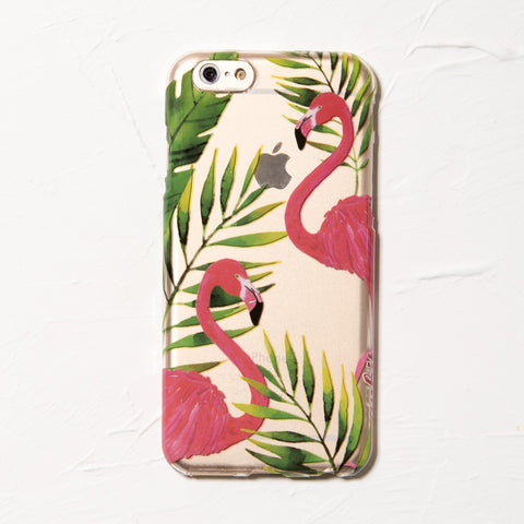 Clear Flamingo iPhone 6 Case