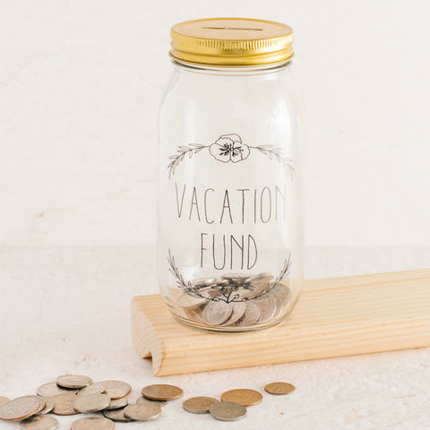 Swear Mason Jar Coin Bank