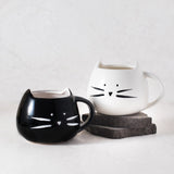 black cat coffee mug, cute gift for cat lovers at Ankit