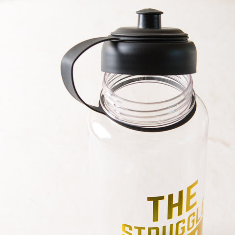 The Struggle is Real Gold Sports Water Bottle