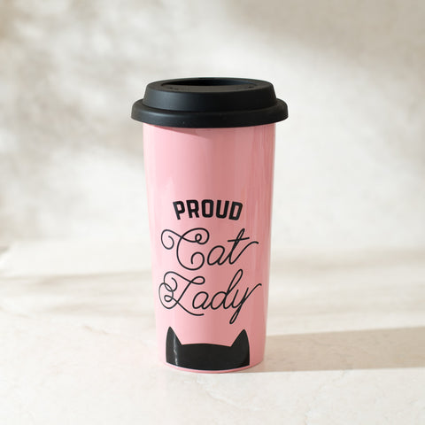 Proud Cat Lady Mug Coffee Tumbler