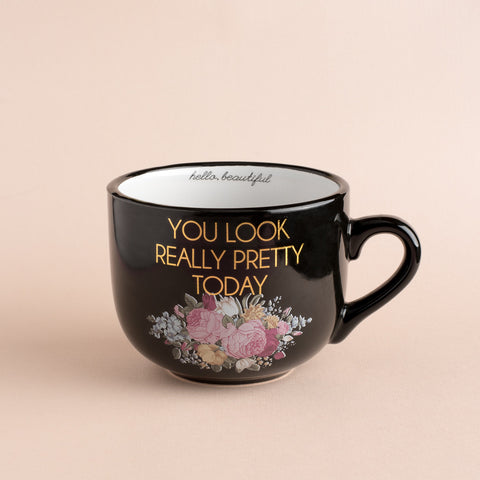 You Look Really Pretty Today Black & Gold Coffee Mug