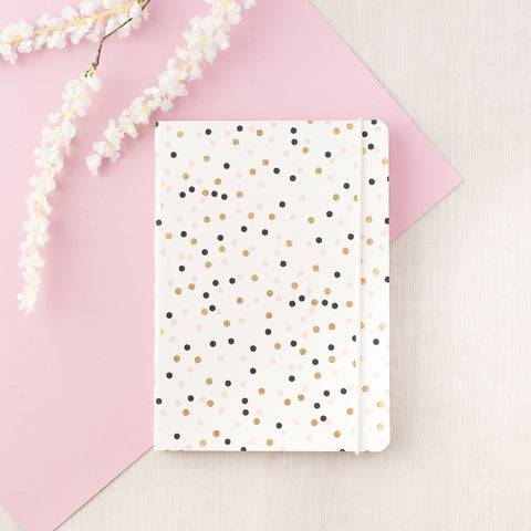 Vegan White & Gold Notebook