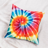 Tie Dye Red & Yellow Throw Pillow