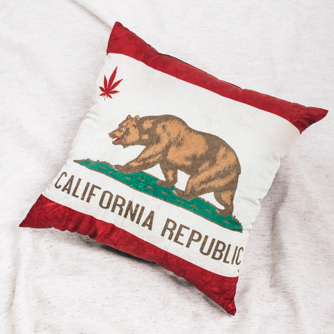Cali Bear Brown Throw Pillow