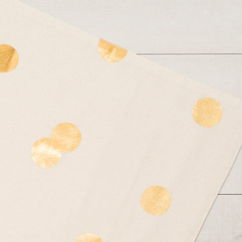 Gold Polka Dot Placemats (Set of 2)