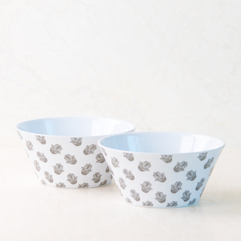 Hamsa White Cereal Bowl Set
