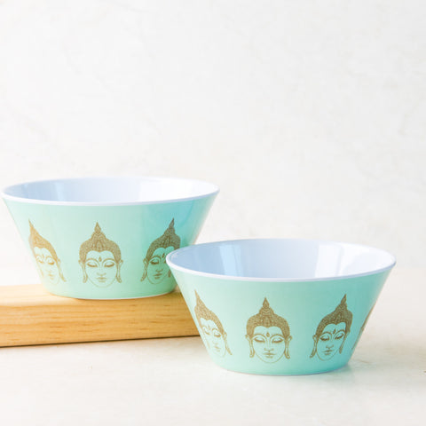 Buddha Blue Cereal Bowl Set