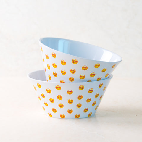 Heart Eye White Cereal Bowl Set