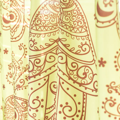 Hamsa Yellow Shower Curtain