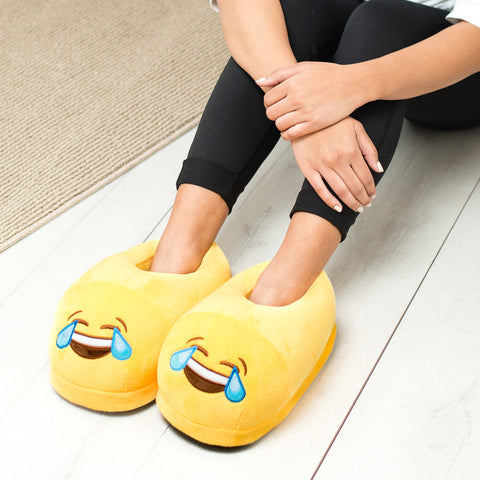 Crying Eyes Emoji Slippers